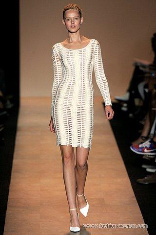 бандажное платье с рукавами