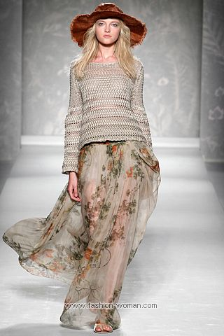 Шифоновая юбка от Alberta Ferretti