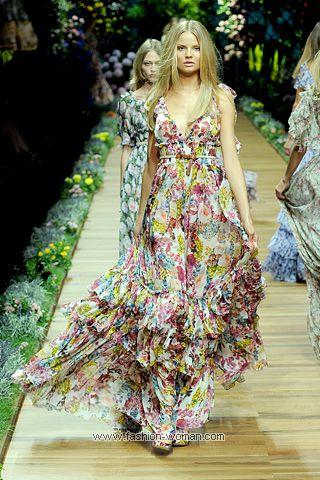 Модное платье лето 2011
