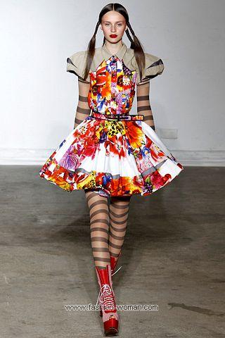 Цветочный принт - модный тренд весна-лето 2011