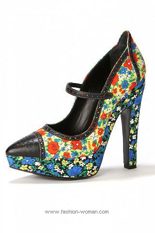 Туфли в цветочек весна-лето 2011