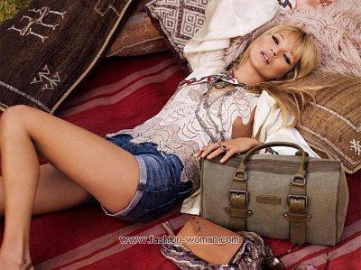 Кейт Мосс в рекламе сумок Longchamp