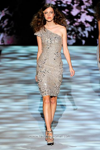 Коктейльное платье весна-лето 2011 от  Badgley Mischka