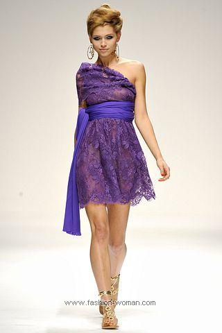 Кружевное коктейльное платье 2011