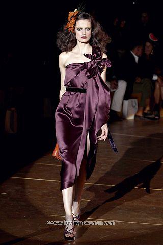 Атласное коктейльное платье Marc Jacobs