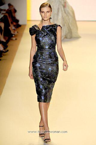 Коктейльное платье по фигуре от Carolina Herrera