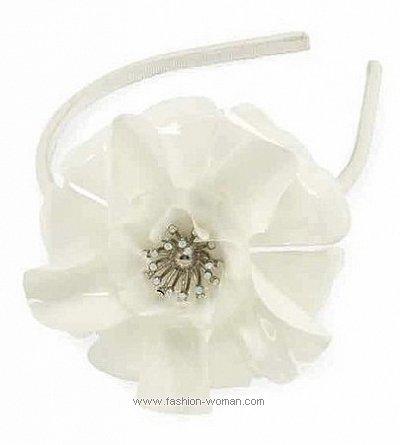 Модный обруч с цветком