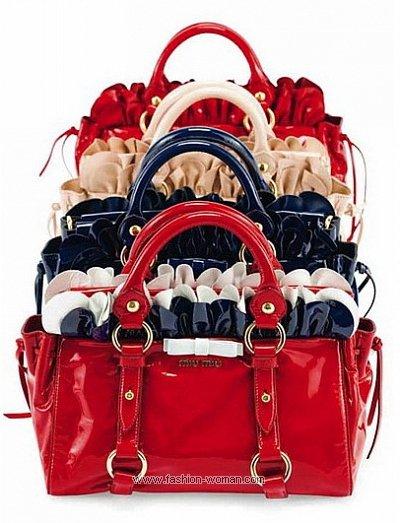 Лаковые сумки от Miu Miu