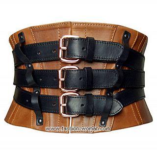 Кожаный корсетный пояс от Jean Paul Gaultier
