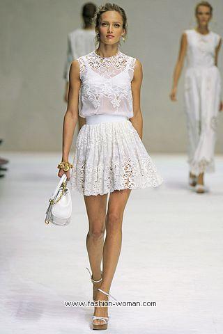 Модное короткое платье от Dolce & Gabbana лето 2011