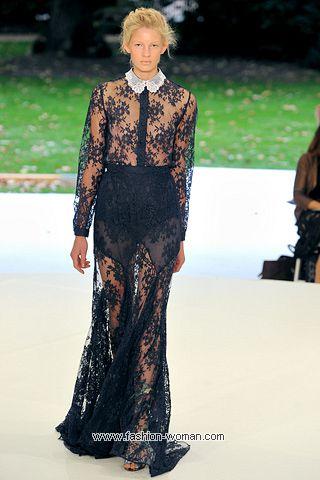Кружевное вечернее платье от Erdem