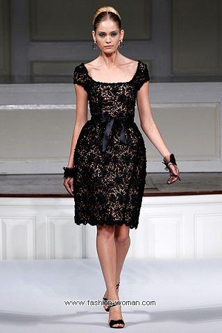 Черное кружевное платье от Oscar de la Renta