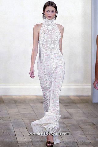 Макси-платье с кружевом