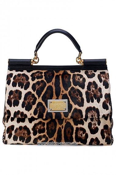 Сумка Miss Sicily с леопардовым принтом от Dolce & Gabbana