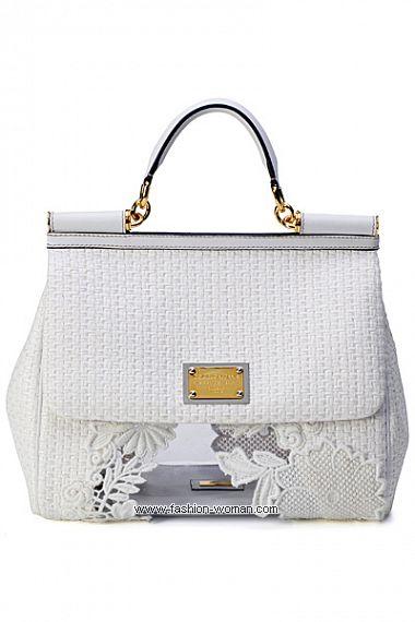 Белая сумка Miss Sicily от Dolce & Gabbana