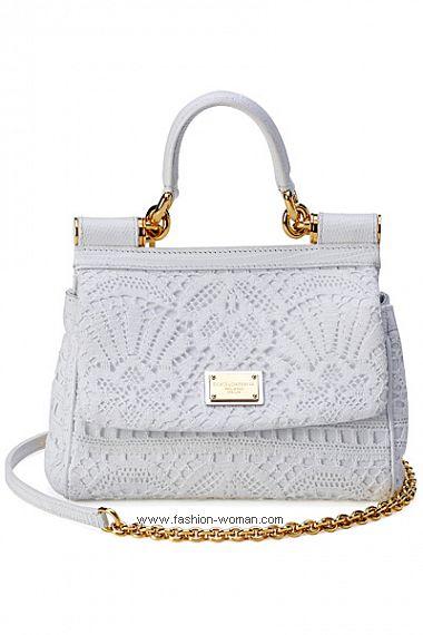 Модная белая сумка от Дольче и Габбана