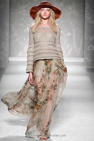 Длинная романтичная юбка от Alberta Ferretti