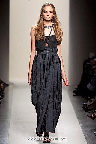 Модная длинная юбка