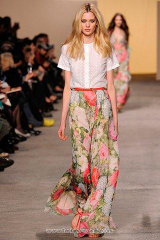 Макси-юбка с цветочным принтом