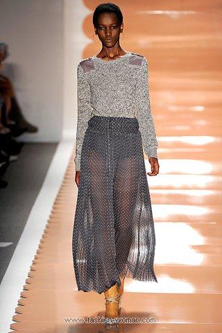 Шифоновая плиссированная юбка