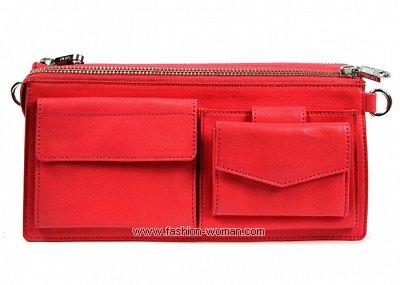 Красный клатч