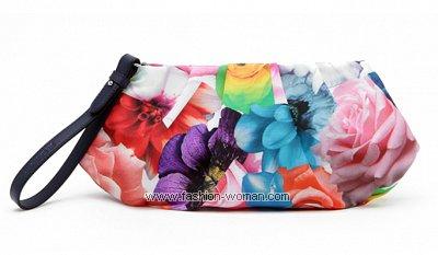Клатч с цветочным принтом