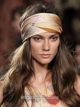 Модный шарф на голову лето 2011