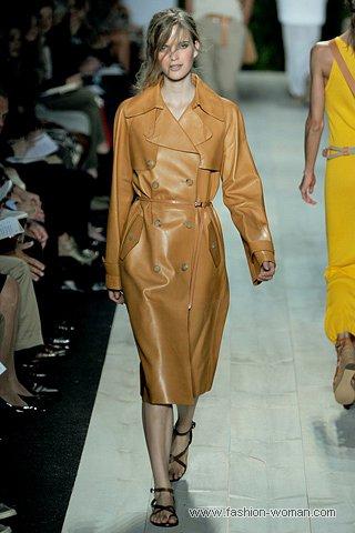 модный кожаный плащ 2011