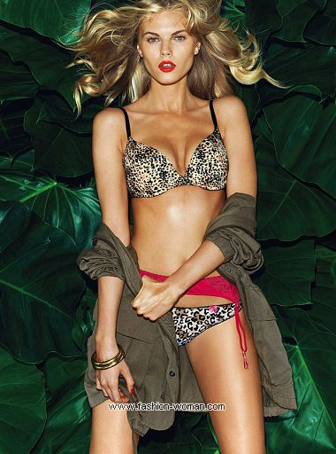 нижнее белье с хищным принтом от Victoria's Secret