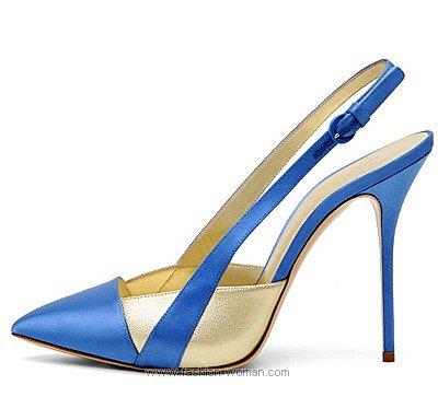 Туфли с открытой пяткой от Casadei