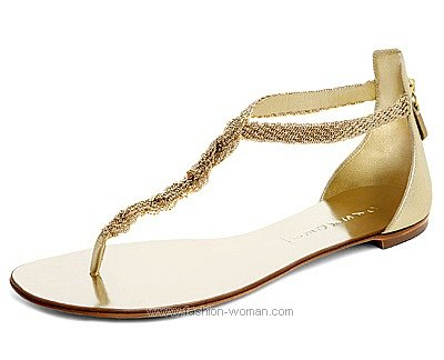 Вечерняя обувь на плоской подошве