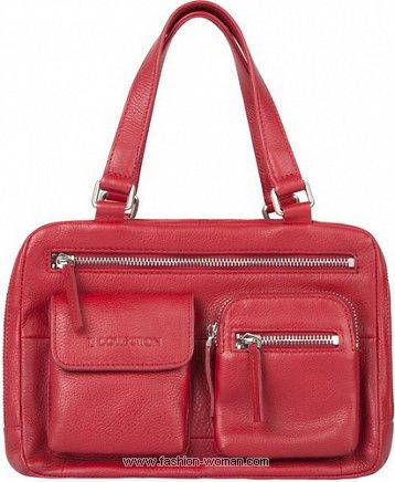 красная сумка TJ Collection весна-лето 2011