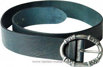 модный черный ремень от  TJ Collection весна-лето 2011