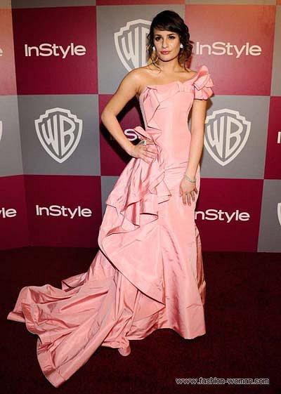 Ліа Мішель у сукні Oscar de la Renta