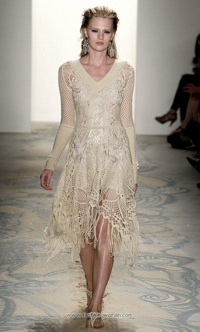 Вязаное крючком платье от Jen Kao