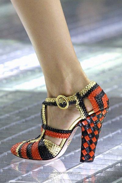 Плетеные туфли Prada
