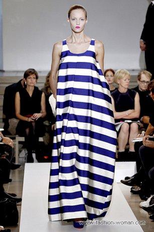 полосатое платье от Jil Sander