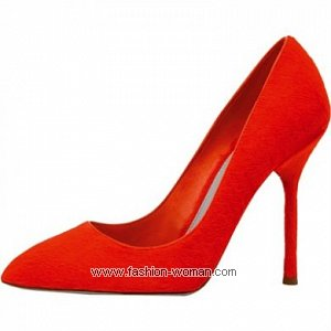 красные туфли Sergio Rossi
