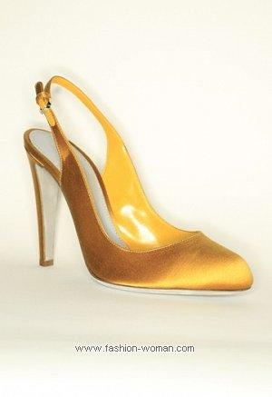 шелковые туфли Sergio Rossi