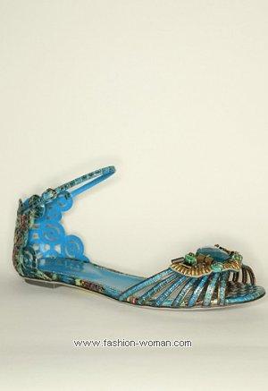 Летняя обувь без каблука Sergio Rossi