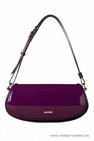 Модная лаковая сумка Burberry Prorsum весна-лето 2011