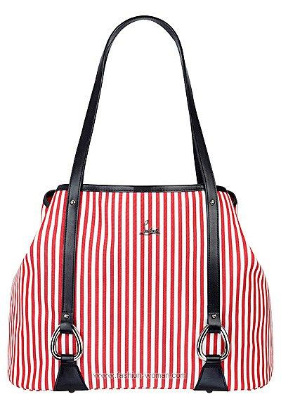 Полосатая сумка от Christian Louboutin