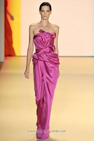 Яркое вечернее платье от Сarolina Herrera