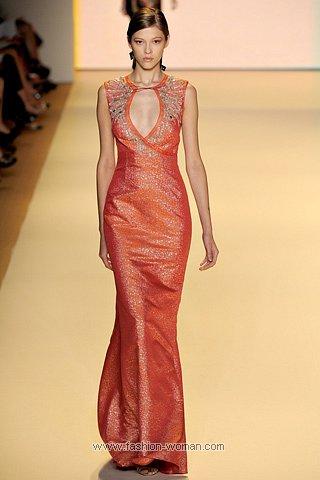 Оранжевое вечернее платье
