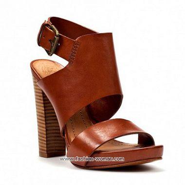 босоножки на толстом каблуке от  Zara