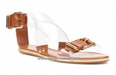 Летняя обувь без каблука от  Zara