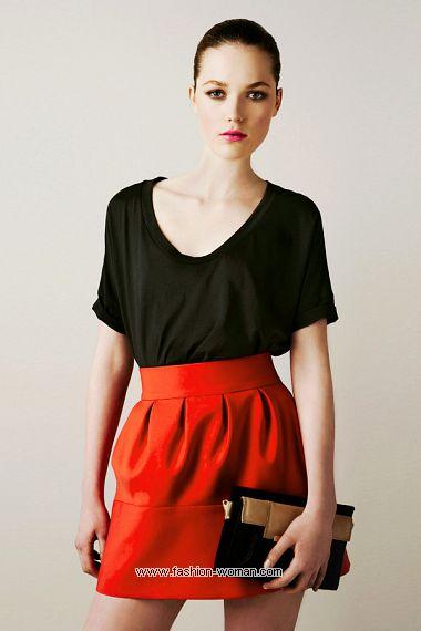 Модная юбка Зара весна-лето 2011