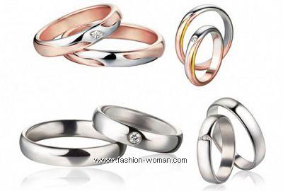 Свадебные кольца из белого золота Polello Eternity 2011