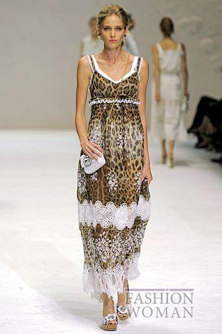 Сарафан с леопардовым принтом от Dolce & Gabbana