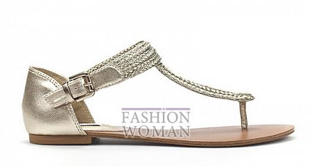 Серебристые сандалии Zara лето 2011